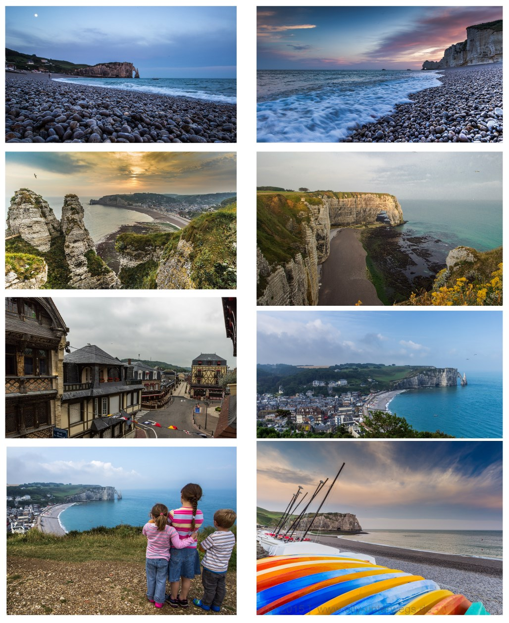 Etretat collage - BLOG