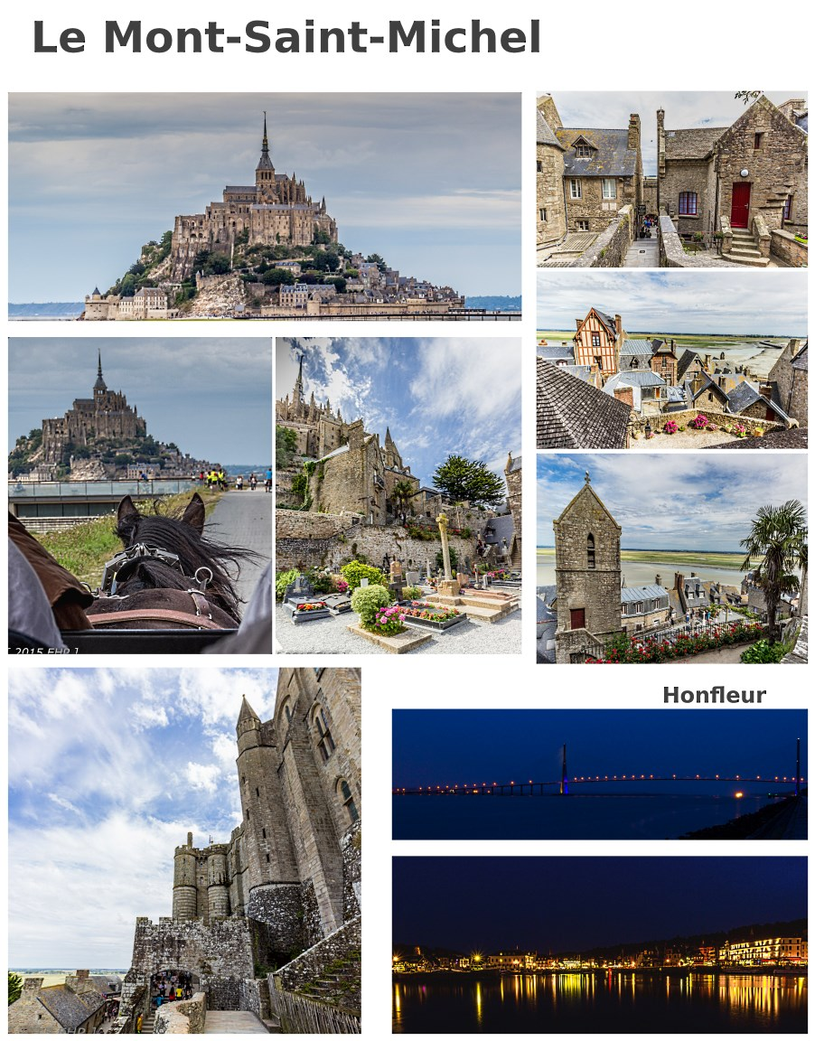 Le Mont-Saint-Michel collage - BLOG