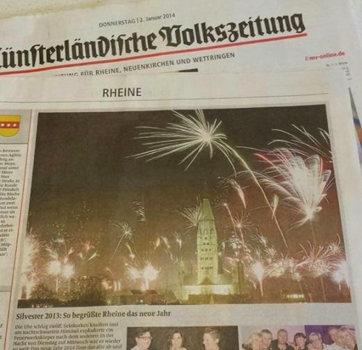 Silvester in Rheine - Zeitungsfoto Elly Heuvers