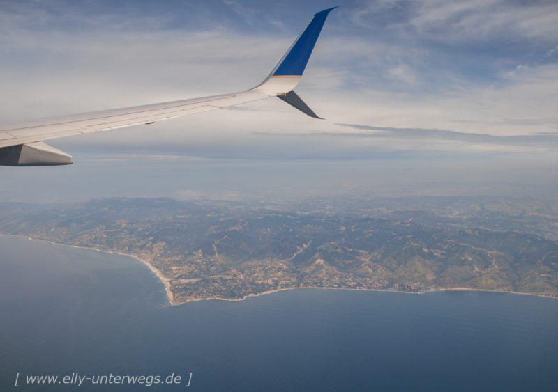 Flug von Los Angeles nach San Francisco und Übernahme vom Wohnmobil