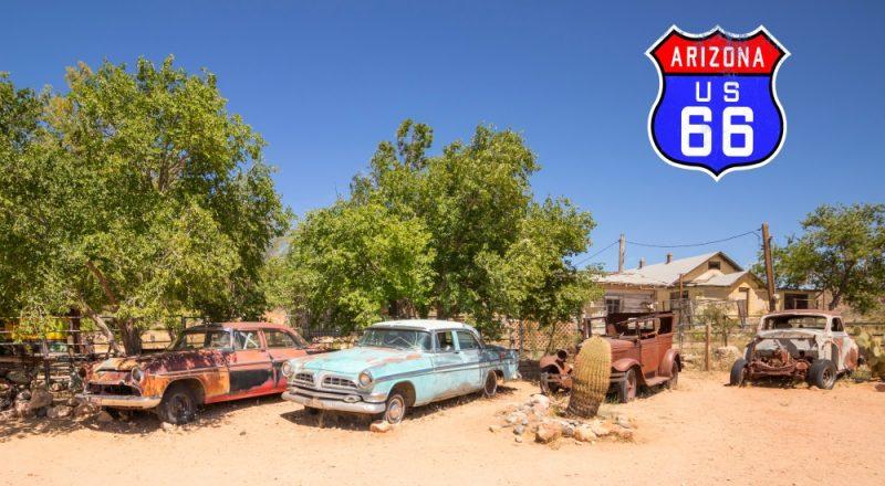 Die Route 66: Freiheit, Abenteuer und Nostalgie pur! Teil 1: Seligman und Hackberry (und ein Abstecher zu den riesigen Kakteen)